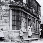 George and Arthur Holbrook's Drapers and Grocery Store on Maggs Hill. The small shop further up Maggs Hill on the left was a bread and cake shop. This picture was taken in the early 1900s.