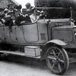 Charabanc outing dating from the 1920s, starting at The Square
