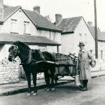 Bert Nash delivering milk in Newmans Lane
