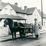 Bert Nash delivering milk in Newmans Lane