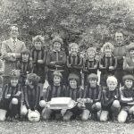 Primary School football team with Nick Furzland and Malcolm Tucker