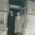 Cliff Hodder with sister Gladys in shop in South Road
