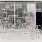 The shop nearest to the entrance to The Rectory was at one time a cycle repair shop