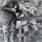 Cliff Dunster (left) and Howard Newth (right) worked tirelessly to preserve footpaths within Timsbury Parish and the surrounding area from 1981