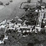 Aerial view of the north of the village