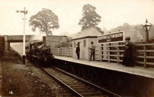 Timsbury Halt on the on the Camerton branch of the Great Western Railway.