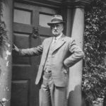 William Beacham outside Pitfour House 1940