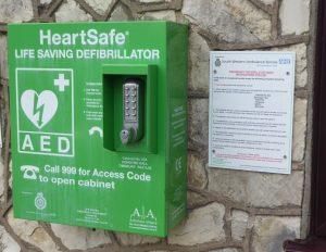 Timsbury Defibrillator