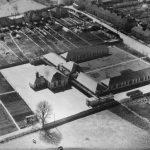 Aerial view of Timsbury School 1930s