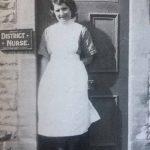 Florence Hembury, photographed in Lansdown View, was district nurse for the village until 1939.