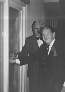 Major Bernard Cayzer opening cricket club house