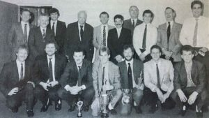 Patrick Moore at the 1988 Cricket Club Annual Dinner