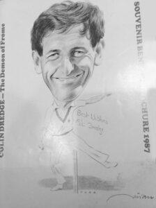Colin Dredge Souvenir Benefit Brochure 1987