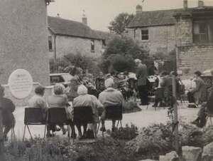 The opening of the Miner's Memorial Garden in 1995