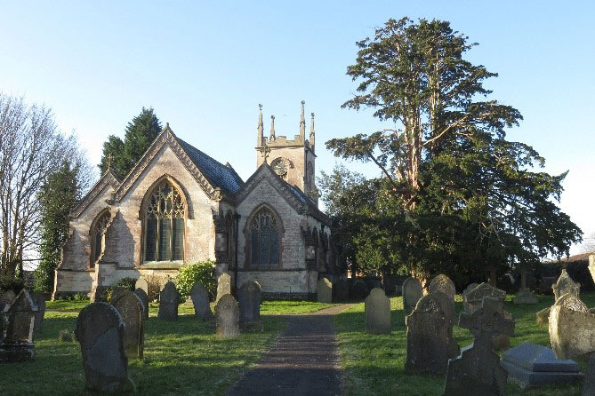 St Mary's Church. In 1614 the village consisted of about 50 dwellings most of them around the church and Church Lane.