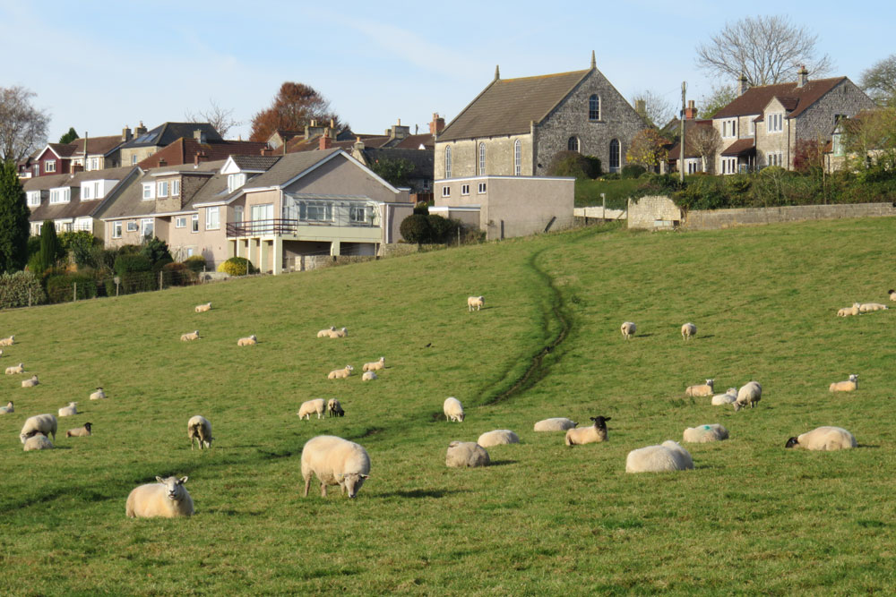 There are many footpaths leading from the village into the surrounding countryside.