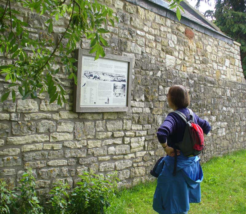 There are a number of information boards around the village describing interesting features.