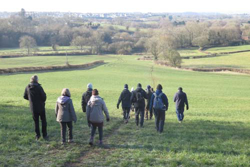 Walkers enjoy the open countryside surrounding the village